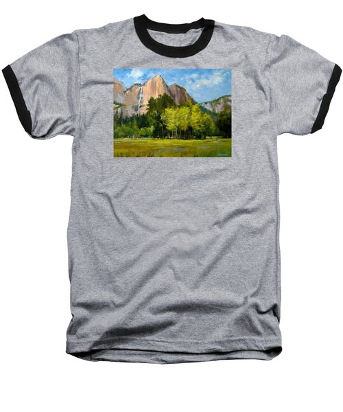 Yosemite - Ribbon Falls Baseball T-Shirt