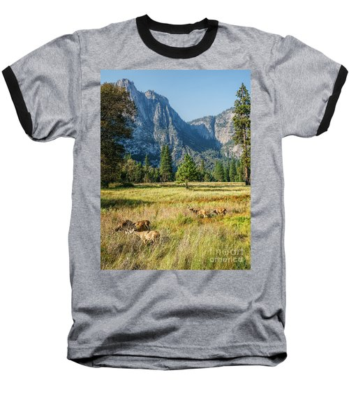 Yosemite Valley At Yosemite National Park Baseball T-Shirt