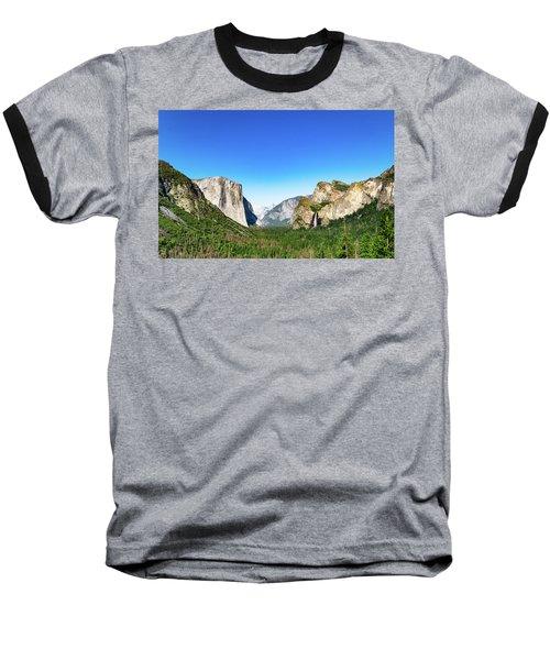Yosemite Valley- Baseball T-Shirt