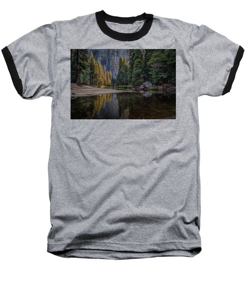 Yosemite Valley Reflections Baseball T-Shirt