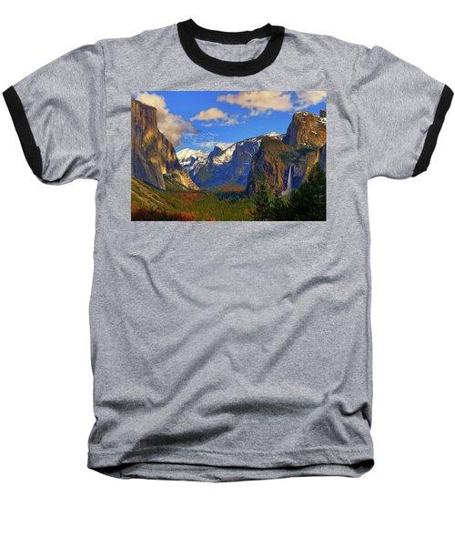 Yosemite Valley Tunnel View Baseball T-Shirt