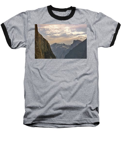 Yosemite Valley - Tunnel View Baseball T-Shirt