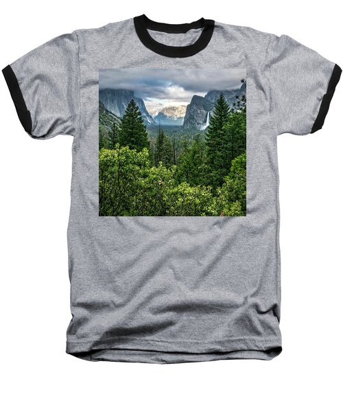 Last Light For Tunnel View Baseball T-Shirt by Ryan Weddle