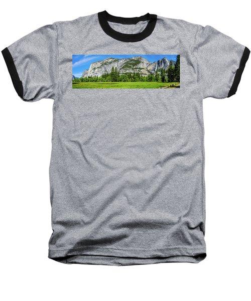 Yosemite West Valley Meadow Panorama #2 Baseball T-Shirt