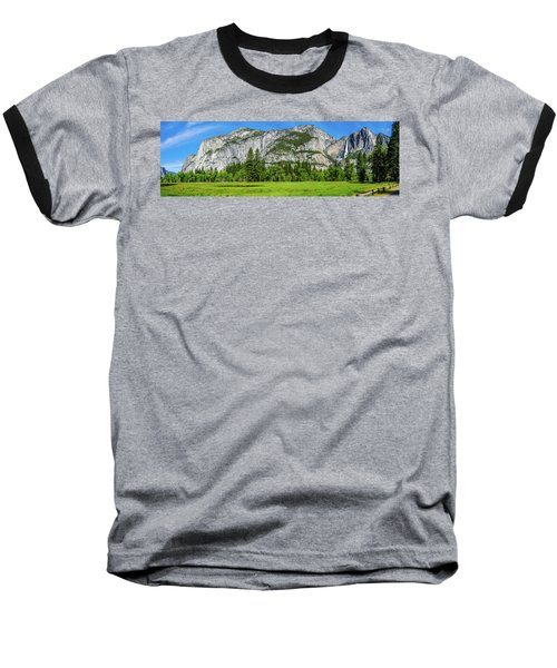 Yosemite West Valley Meadow Panorama #2 Baseball T-Shirt