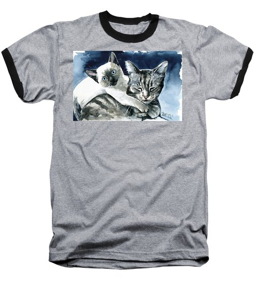 You Are Mine - Cat Painting Baseball T-Shirt