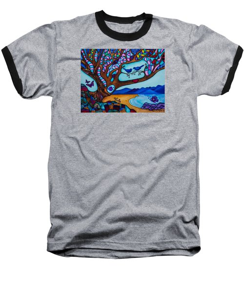 Baseball T-Shirt featuring the painting Love Is All Around Us by Lori Miller