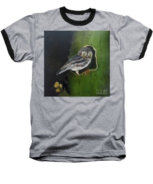 Baseball T-Shirt featuring the painting You Caught Me by Roseann Gilmore