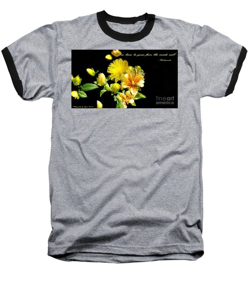 Baseball T-Shirt featuring the photograph You Have To Grow by Gena Weiser