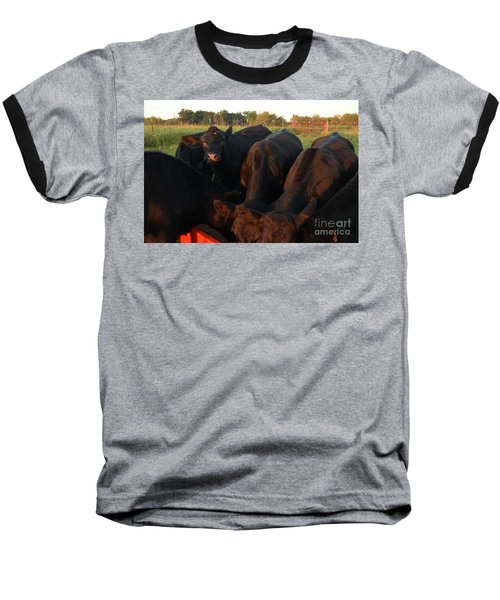 Baseball T-Shirt featuring the photograph You Lookin At Me? by Mark McReynolds