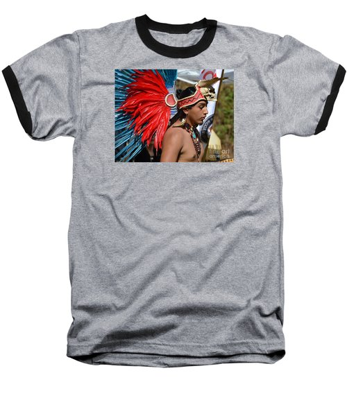 Young Aztec Portrait Baseball T-Shirt