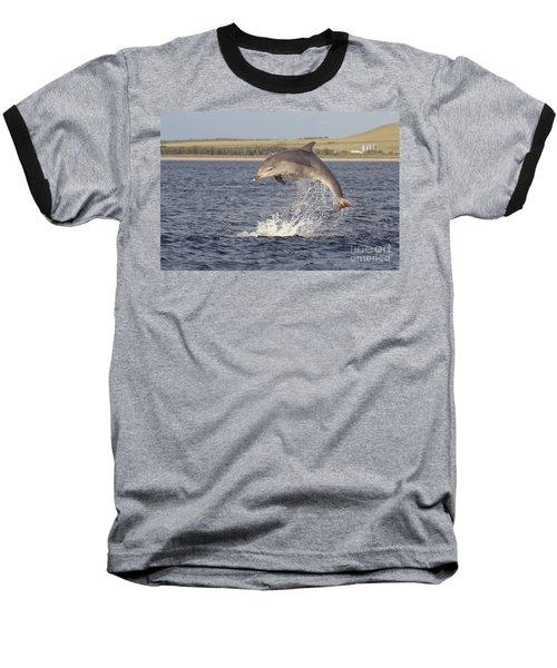 Young Bottlenose Dolphin - Scotland #13 Baseball T-Shirt