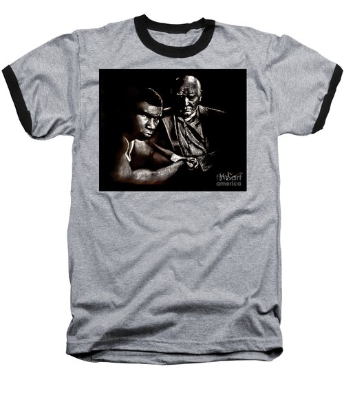 Young Boxer And Soon To Be World Champion Mike Tyson And Trainer Cus Damato Baseball T-Shirt