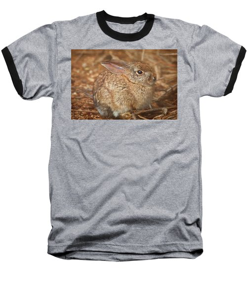 Young Cottontail In The Morning Baseball T-Shirt