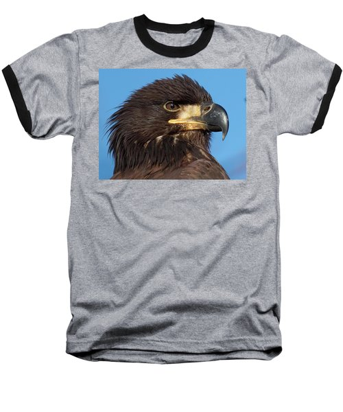 Young Eagle Head Baseball T-Shirt