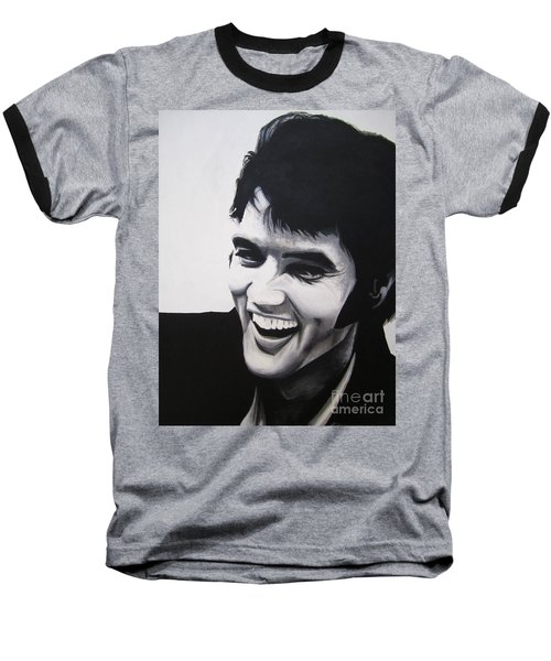 Young Elvis Baseball T-Shirt by Ashley Price