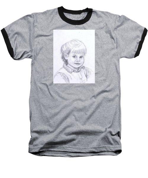 Young Girl Baseball T-Shirt by Francine Heykoop