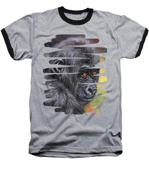 Young Gorilla Portrait Baseball T-Shirt
