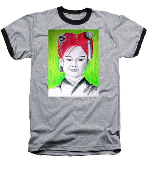 Young Japanese Beauty -- The Original -- Portrait Of Japanese Girl Baseball T-Shirt