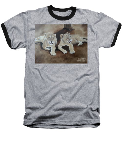 Young Lions Baseball T-Shirt by Bev Conover