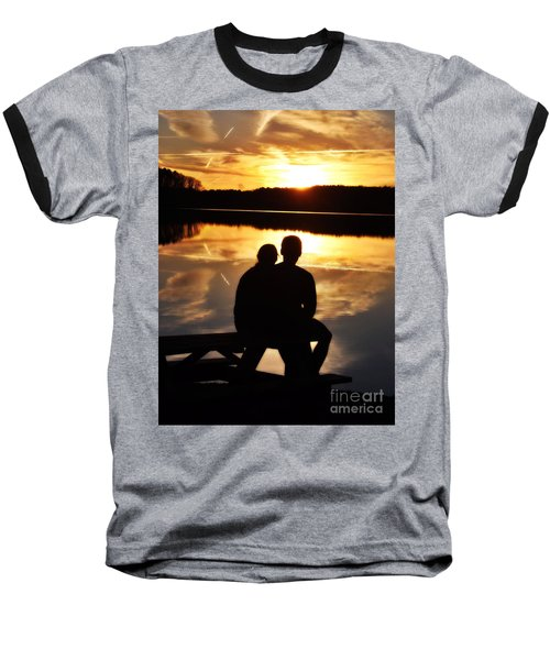 Young Love And Sunsets Baseball T-Shirt