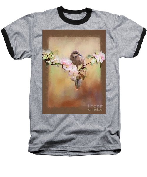 Young Morning Dove Baseball T-Shirt by Suzanne Handel