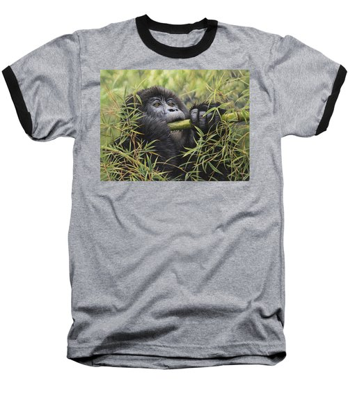 Young Mountain Gorilla Baseball T-Shirt