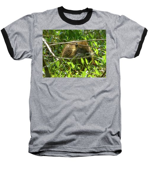 Young Nutria In Love Baseball T-Shirt