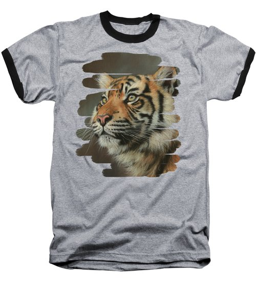 Young Sumatran Tiger Portrait Baseball T-Shirt