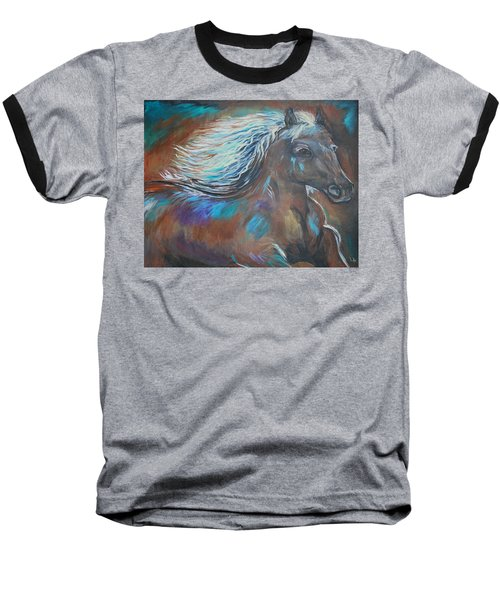 Baseball T-Shirt featuring the painting Your Majesty by Leslie Allen