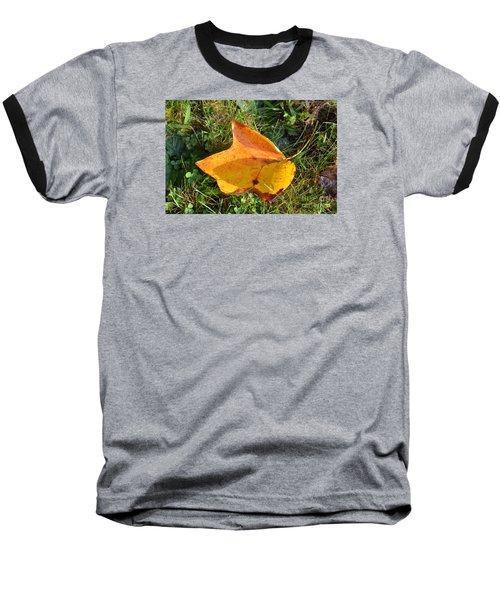 You're Always Leafing Me Baseball T-Shirt by Lew Davis