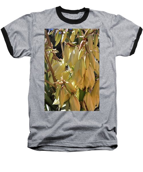 Baseball T-Shirt featuring the photograph Yucca Bloom II by Ron Cline