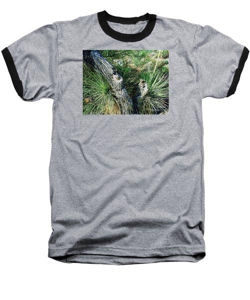 Baseball T-Shirt featuring the photograph Yucca Cactus On The Arizona Desert by Merton Allen