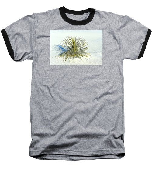 Baseball T-Shirt featuring the photograph Yucca In White Sand by Jerry Cahill