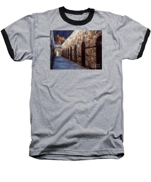 Yuma Prison Cellblock  ... Baseball T-Shirt by Chuck Caramella