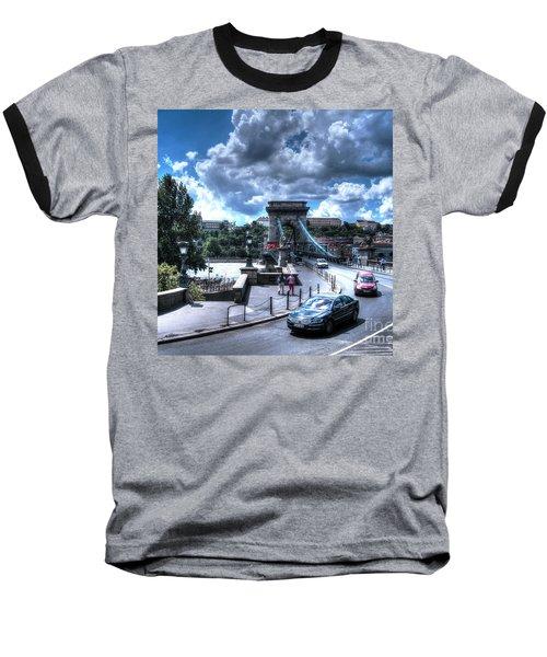 Baseball T-Shirt featuring the pyrography Yury Bashkin Budapesht Summer by Yury Bashkin