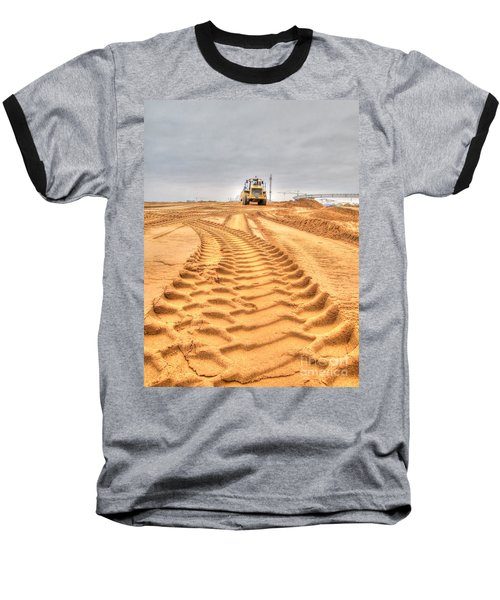 Yury Bashkin The Road On The Construction Baseball T-Shirt by Yury Bashkin