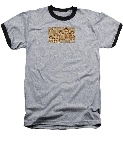 Baseball T-Shirt featuring the pyrography Yury Bashkin Wall Budapesht Hyngary by Yury Bashkin