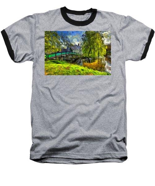 Zaanse Schans Baseball T-Shirt by Eva Lechner