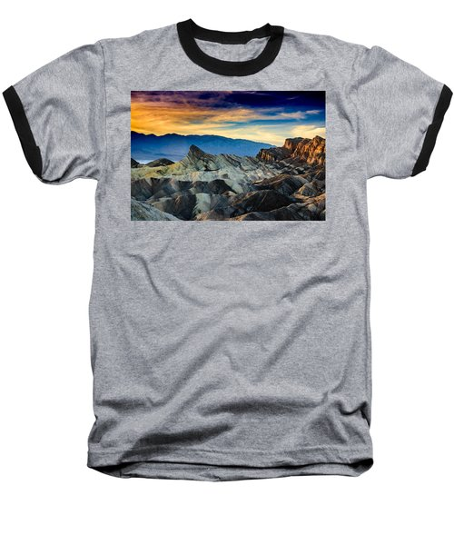 Zabriskie Point At Sundown Baseball T-Shirt