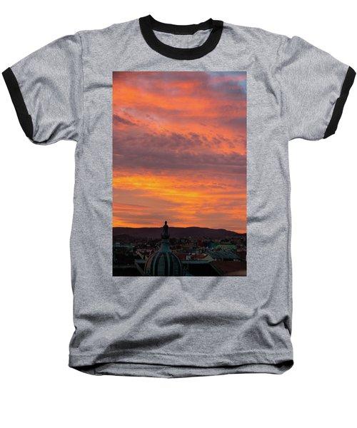 Zagreb Sunset 5 Baseball T-Shirt