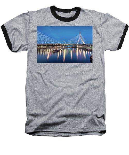 Zakim Bridge And Charles River At Dawn Baseball T-Shirt