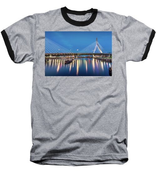 Zakim Bridge And Charles River At Dawn Baseball T-Shirt