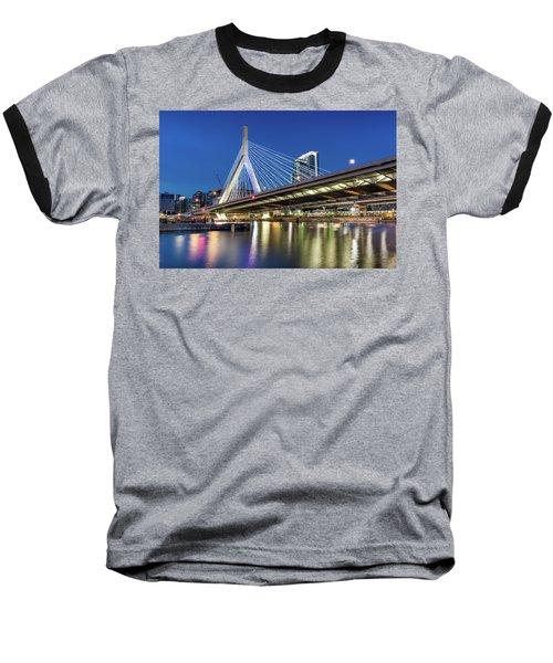 Zakim Bridge And Charles River Baseball T-Shirt