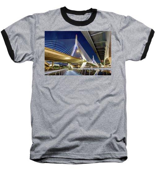 Zakim Bridge From Bridge Under Another Bridge Baseball T-Shirt