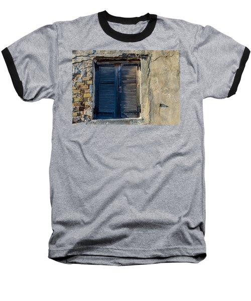 Zakynthos Town Window Baseball T-Shirt