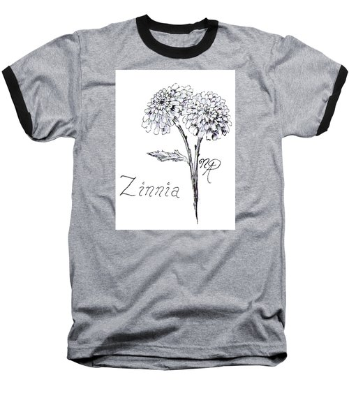 Zannie Zinnia Baseball T-Shirt