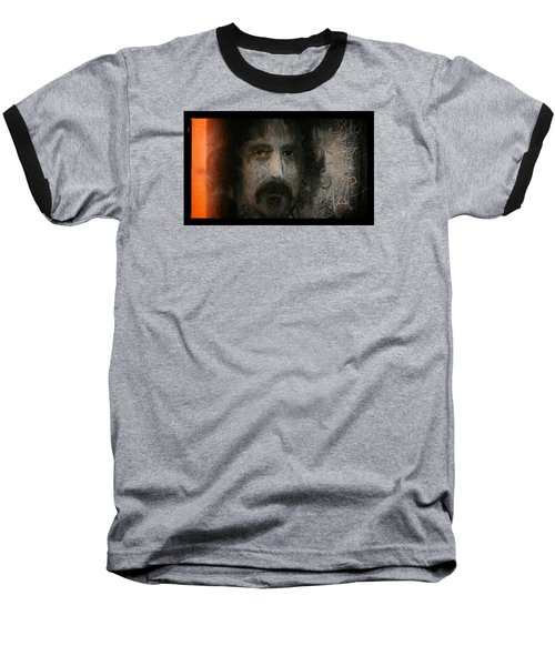 Baseball T-Shirt featuring the painting Zappa-the Deathless Horsie by Michael Cleere