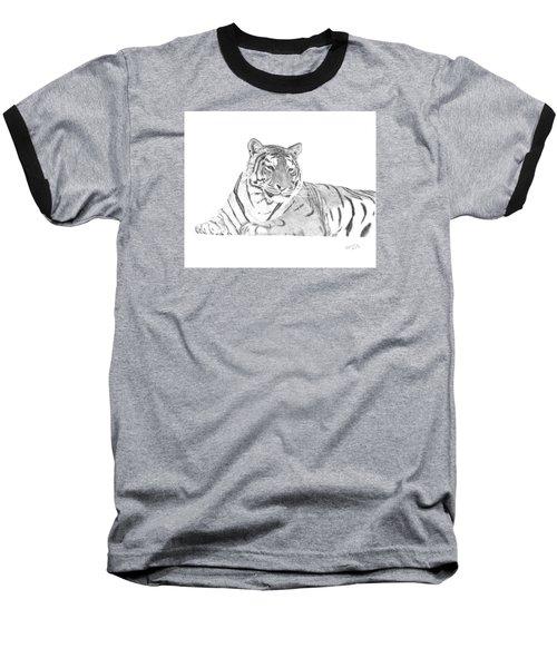 Zarina A Siberian Tiger Baseball T-Shirt