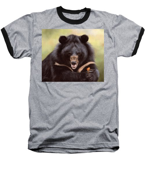 Zebedee Moon Bear - In Support Of Animals Asia Baseball T-Shirt